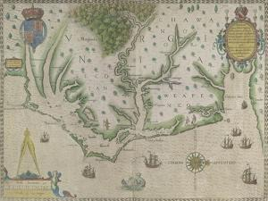 White-De Bry Map Of Virginia by John White