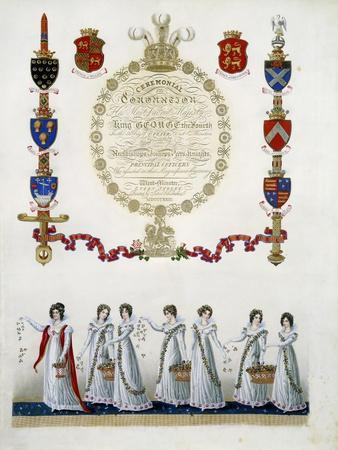 Frontispiece, from 'Ceremonial of the Coronation of His Most Sacred Majesty King George the Fourth'
