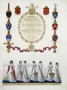 Frontispiece, from 'Ceremonial of the Coronation of His Most Sacred Majesty King George the Fourth' by John Whittaker