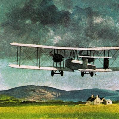 John William Alcock and Arthur Whitten Brown Who Flew across the Atlantic-English School-Giclee Print