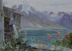 Ferritet, Lake Geneva, 1882 by John William Inchbold