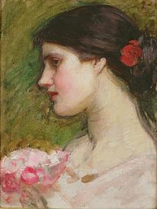 Camellias, C.1880 by John William Waterhouse