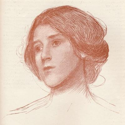 'From a study in sanguine', c1899