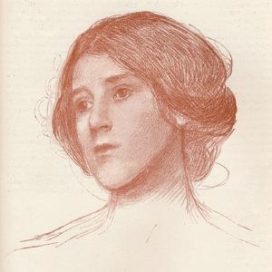 'From a study in sanguine', c1899 by John William Waterhouse