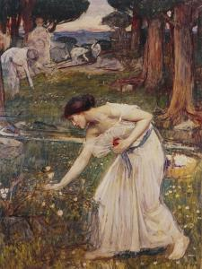 Gathering Rosebuds by John William Waterhouse