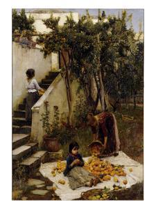 he Orange Gatherers by John William Waterhouse