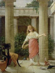 In the Peristyle by John William Waterhouse