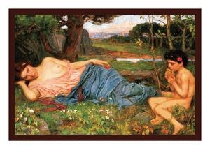Listing to My Sweet Pipings by John William Waterhouse