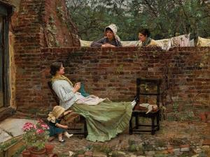 Plauderei (Gossip). Um 1885 by John William Waterhouse