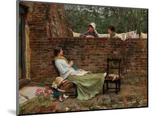 Plauderei (Gossip). Um 1885 by John William Waterhouse