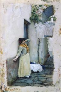 Resting by John William Waterhouse