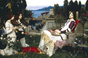Saint Cecelia by John William Waterhouse
