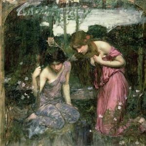 Study for 'Nymphs Finding the Head of Orpheus', C.1900 by John William Waterhouse