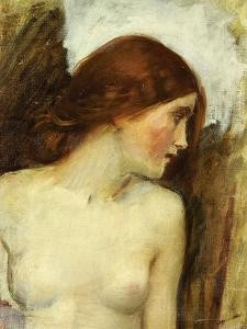 Study for the Head of Echo by John William Waterhouse