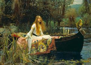 The Lady of Shalott, 1888 by John William Waterhouse