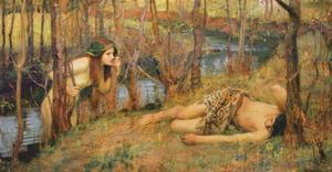 The Naiad, 1893 (Hylas with a Nymph) by John William Waterhouse