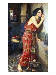 Thisbe or The Listener, c.1909 by John William Waterhouse