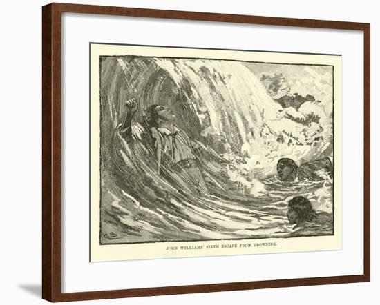 John Williams' Sixth Escape from Drowning--Framed Giclee Print