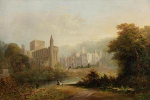 Brinkburn Grange and the Ruins of Brinkburn Priory, 1834 by John Wilson Carmichael