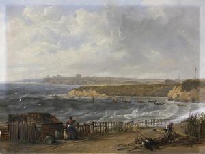 Cullercoats Looking Towards Tynemouth - Flood Tide, 1845 by John Wilson Carmichael