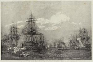 Her Majesty Proceeding to The Duke of Wellington Flag-Ship by John Wilson Carmichael