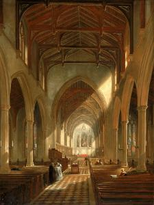 Interior of St. Peter's Church, Newcastle Upon Tyne by John Wilson Carmichael