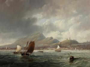 Leith and Edinburgh from the Firth of Forth, 1847 by John Wilson Carmichael