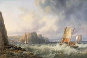 Off the Yorkshire Coast, Staithes, 1861 by John Wilson Carmichael