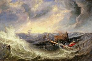Seascape with Wreckage by John Wilson Carmichael