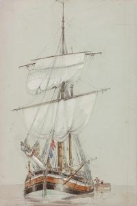 Study of a Sailing Ship by John Wilson Carmichael