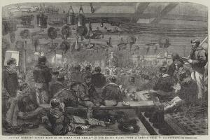 Sunday Morning Divine Service on Board The Caesar, in the Baltic Fleet by John Wilson Carmichael