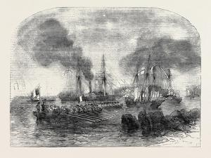 The Bombardment of Sveaborg: French Gun Boats Going to the Battery with Shot and Shell by John Wilson Carmichael