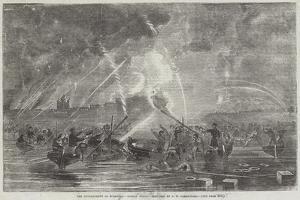 The Bombardment of Sveaborg, Rocket Boats by John Wilson Carmichael
