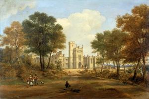 The Entrance to Beaufront Castle, 1845 by John Wilson Carmichael