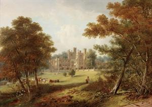 The Garden Front, Beaufront Castle, 1845 by John Wilson Carmichael