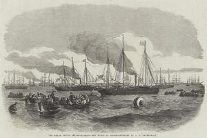 The Grand Naval Review, Liberty-Men Going on Shore by John Wilson Carmichael