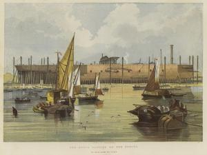 The Great Eastern on the Stocks, as Seen from the River by John Wilson Carmichael