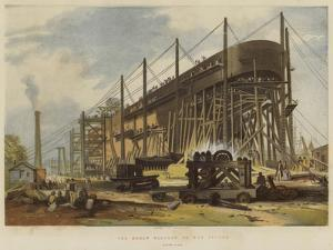 The Great Eastern on the Stocks, Stern View by John Wilson Carmichael