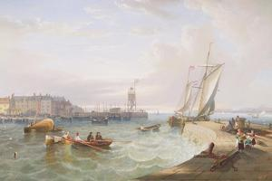 The Harbour at Hartlepool by John Wilson Carmichael