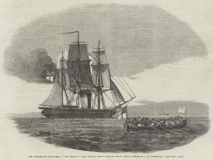 The Massacre at Hango-Head, The Cossack'S Boat Leaving with a Flag of Truce by John Wilson Carmichael