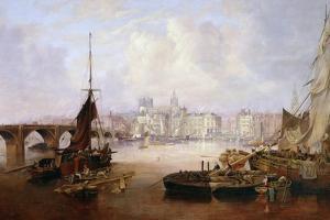 The Mayor's Barge on the Tyne, 1828 by John Wilson Carmichael