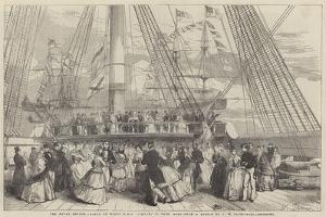 The Naval Review, Dance on Board HMS Caesar, 91, Captain Robb by John Wilson Carmichael