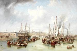The Opening of Sunderland South Docks, 20 June, 1850 by John Wilson Carmichael