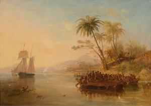 The Rescue of William D'Oyly, 1841 by John Wilson Carmichael