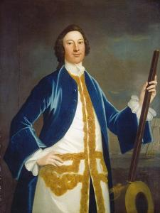Unidentified British Naval Officer, c.1745 by John Wollaston