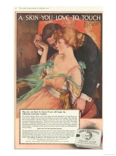 John Woodbury's, Expressions Love Woodbury's Smell Soap Hugging Aroma, USA, 1910--Giclee Print