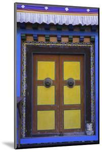 Door at the Buddhist Monastery in Tengboche in the Khumbu Region of Nepal, Asia by John Woodworth