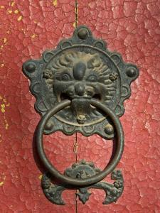 Ornate Detail on a Traditional Door in Simatai, China, Asia by John Woodworth