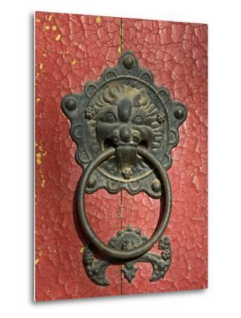 Ornate Detail on a Traditional Door in Simatai, China, Asia