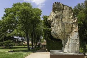 The Monumental Head by Igor Mitora in the Boboli Gardens, Florence, Tuscany, Italy by John Woodworth